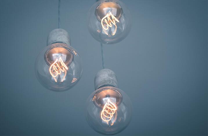 2 large lightbulbs